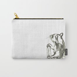 Gray Squirrel Carry-All Pouch