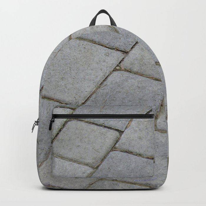 TEXTURES -- Pavingstone Pattern Backpack