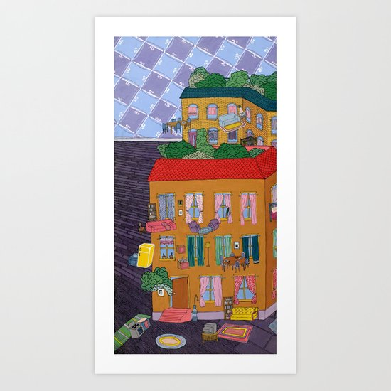 Inside Out Apartment Art Print
