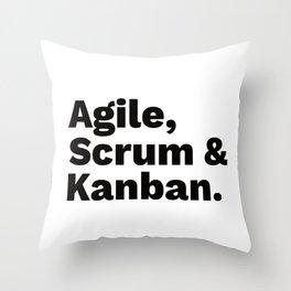 Agile, Scrum & Kanban Throw Pillow