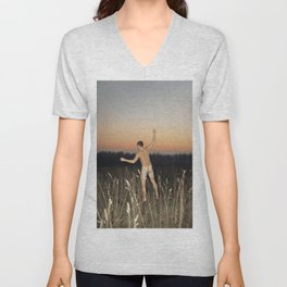 The Sunset Sky Unisex V-Neck