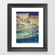 A Valley in the Evening Framed Art Print