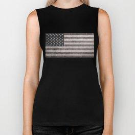 American flag, Retro desaturated look Biker Tank