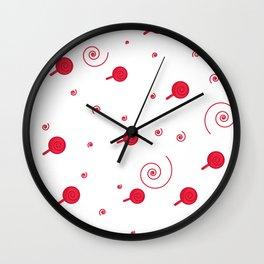 Confetti. Seamless cartoon pattern Wall Clock