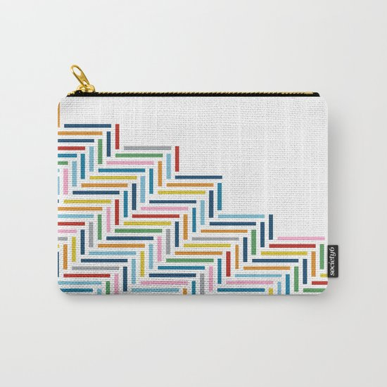 Herringbone Color Part Carry-All Pouch