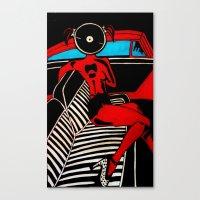 zappa Canvas Prints featuring Zappa chic  by BundaVaga