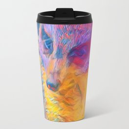 Painterly Animal -Meerkat Travel Mug