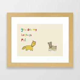 Bad Fox Framed Art Print