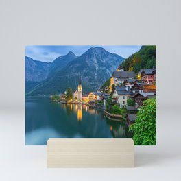 Hallstatt Village, Alps Mini Art Print
