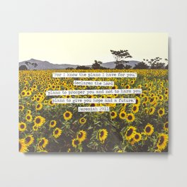 Jeremiah Sunflowers Metal Print