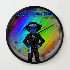 Happy New Year in the Future Wall Clock