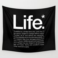 motivational Wall Tapestries featuring Life.* Available for a limited time only. by WORDS BRAND™