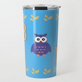 Owl Baby Boy Travel Mug