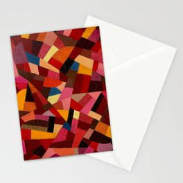 Komposition 1940 Mid Century Modern Abstract Geometric Colorful Pattern Painting Otto Freundlich Stationery Cards