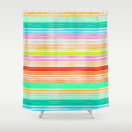 Waves_Multicolor2 Shower Curtain