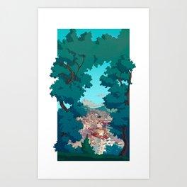 Vigo desde el Castro Art Print
