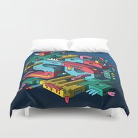 font Duvet Covers featuring Font of all Known Ledges by Mister Phil