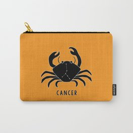 CANCER Horoscope Crab Design - Yellow Orange Carry-All Pouch