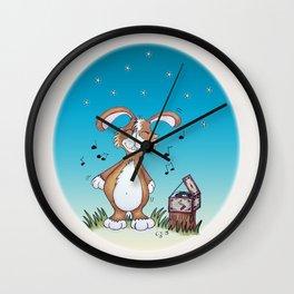 Bunny Diggins Wall Clock