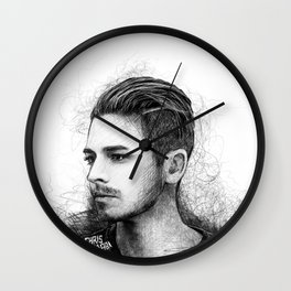 Dashboard Confessional sketch Wall Clock