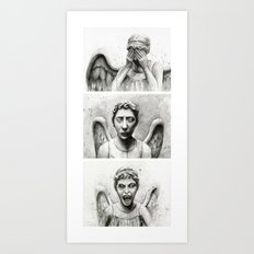 Weeping Angels Art Print