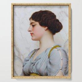 """John William Godward """"A Roman Beauty"""" (2) Serving Tray"""