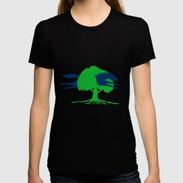 Horse Jumping Through Oak Tree Retro T-shirt