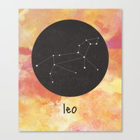 leo Canvas Prints featuring Leo by snaticky