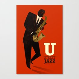 U Street Jazz (Saxophone) Canvas Print