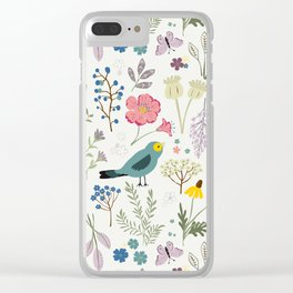 Bluebird Clear iPhone Case