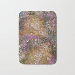 A galactic ocean -Orange- Cosmic Painting Art Bath Mat