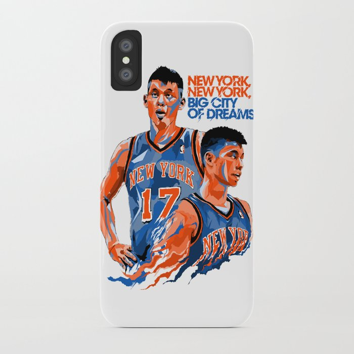 Jeremy Lin: New York, New York, Big City of Dreams. iPhone Case