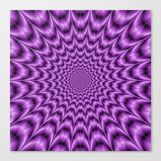 Explosive Web in Purple Canvas Print
