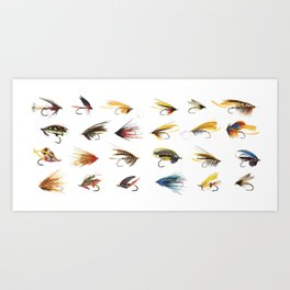 Fly Fishing Flies Kunstdrucke