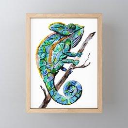 Magic Chameleon Framed Mini Art Print