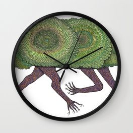 Creeping Shrubbery Wall Clock