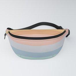 Pastel Retro Rainbow Stripes  Fanny Pack