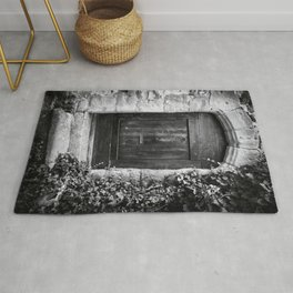 Doors of the World | Wooden Door in France, Europe | Black & White Photography | Travel Photography | Photo Print | Art Print Rug