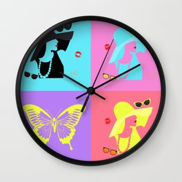 Lady with The Hat Wall Clock