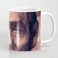 lincoln Mugs featuring Lincoln by Dominick Saponaro