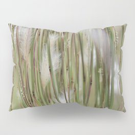 Wispy on green and magenta reeds Pillow Sham
