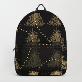Fading Trees Gold on black Backpack