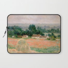 Haystack at Giverny by Claude Monet Laptop Sleeve