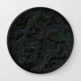 Black green relief Wall Clock