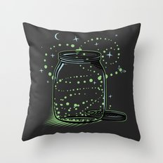 The Empty Jar of Fireflies Throw Pillow