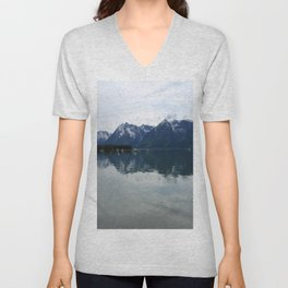 Peaceful Evening At The Lake Unisex V-Neck
