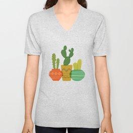 Cactus Trio Unisex V-Neck
