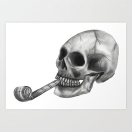 This Party Blows Skull Art Print