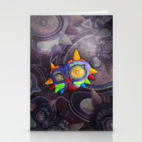 majoras mask Stationery Cards featuring The Lost Mask by Sergio A.M.