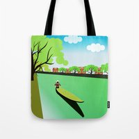 vietnam Tote Bags featuring Vietnam views by Design4u Studio
